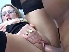 Secretary fucked by boss with fat cock on table
