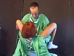 Doctor crazy fucking redhead plump nurse in bed