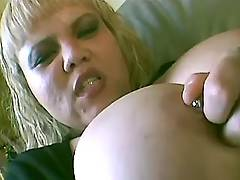 Megabusty blonde titfucks