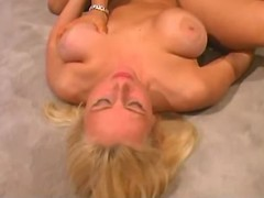 Chesty blonde going horny
