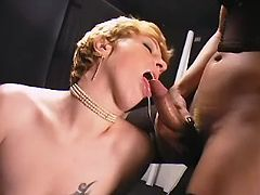 Slut gets double fuck and cumload in shemales orgy