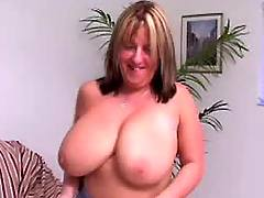 Busty lady has fun w guy