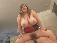 Chubby fatty fucking hard with black stud