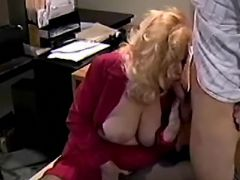 Mature office slut licked