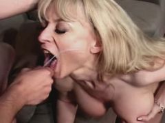 Blonde milf fucks and gets facial