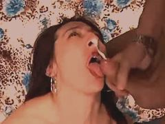 Milf fucks in all holes n gets cum