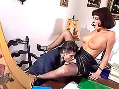 Boss licks beauty pussy