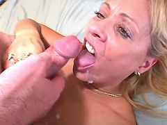 Mature has fuck and licks out cum